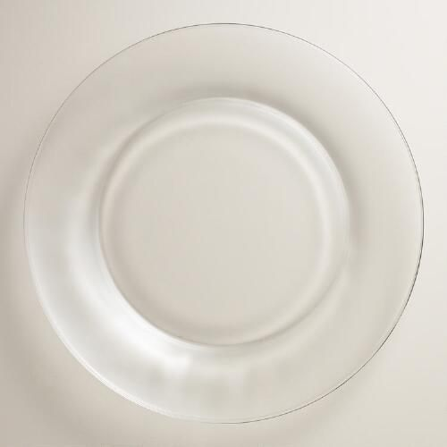 One of my favorite discoveries at WorldMarket.com: Clear Moderno Dinner Plates, Set of 4