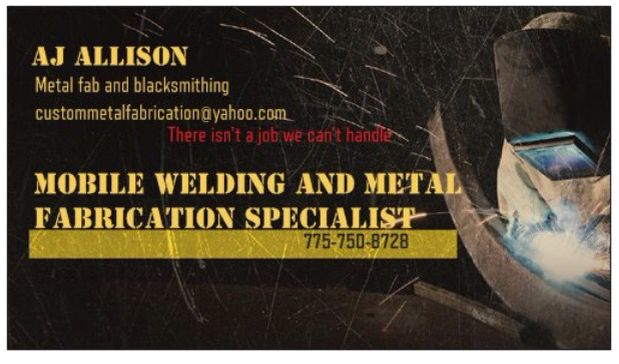Trying to get my business name out there please share  I have been a welder/fabricator for the last 18 years  I am just trying to get my own welding company started thank you for your support I'm truly grateful