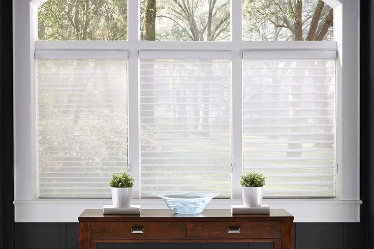 Window shades shadings these horizontal shade vanes for Motorized top down bottom up shades