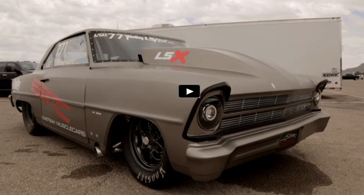 The East Bay Muscle Cars 1967 Nova drag car has a brand new LSX Crate motor. See all details on the set up!