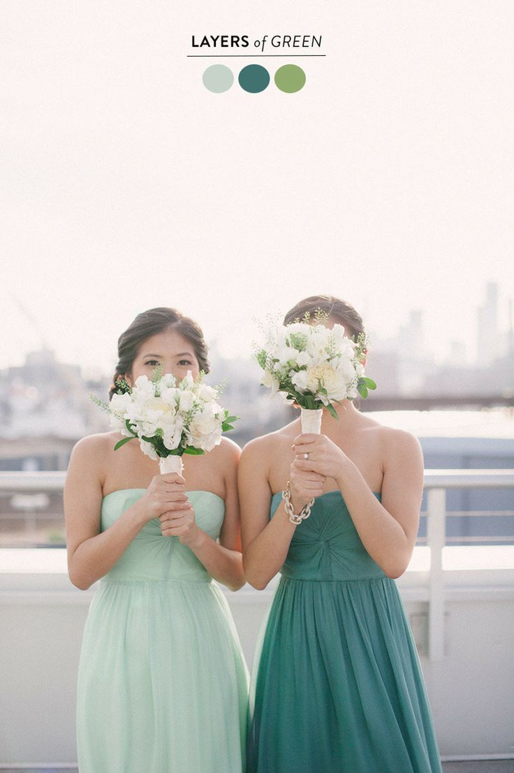 #wedding #color #palette full of layered greens  Read more - http://www.stylemepretty.com/2013/09/05/wedding-color-palette-round-up/