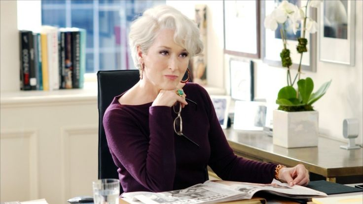 """Miranda Priestly from """"The Devil Wears Prada"""" (2006) is not an evil woman that preys on her poor employees. Oh no… she's just a boss who happens to be a woman."""
