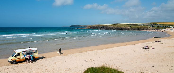 Harlyn Bay, a short drive from Padstow, Cornwall.  We have 3 Cornish Beach Houses to rent here.