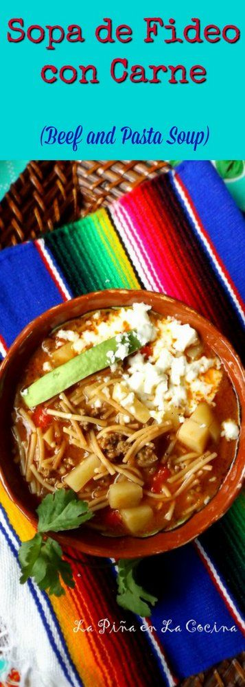 229 best mexican food images on pinterest mexican food recipes sopa de fideo con carne sopadefideo forumfinder Gallery