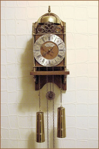 Vintage Fhs Hermle Germany Movement Lantarn Wall Clock By