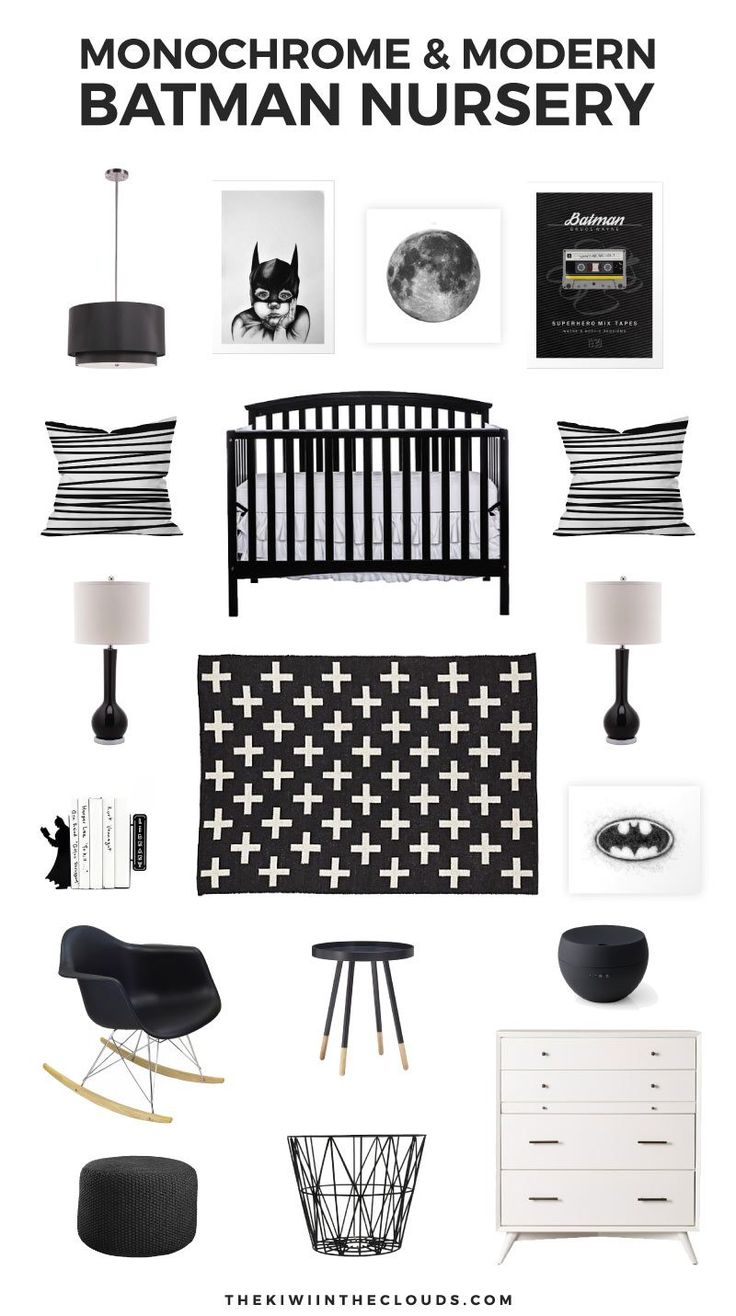 Your baby boy will be the most hip kid on the block with this epic Batman nursery theme! Click through for all the details.