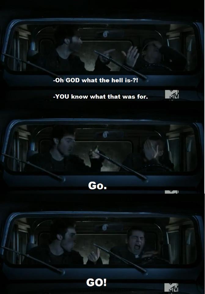 My favorite scene from season 1 hahaha!!! teen wolf funny | Teen