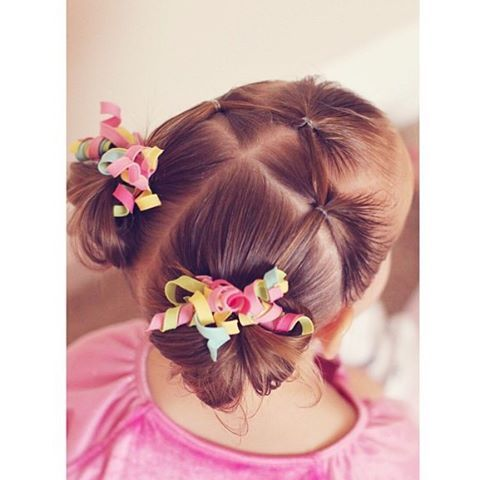 3 elastic a into pigtail messy buns for little sis!