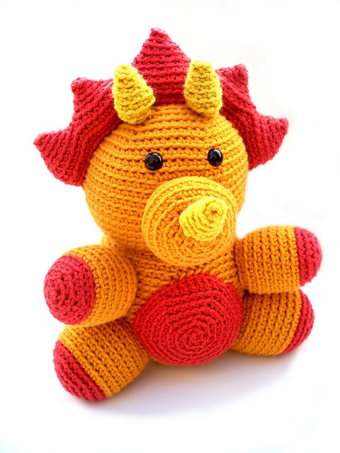 Ravelry: Tara the Triceratops pattern by Hollie Broadbent