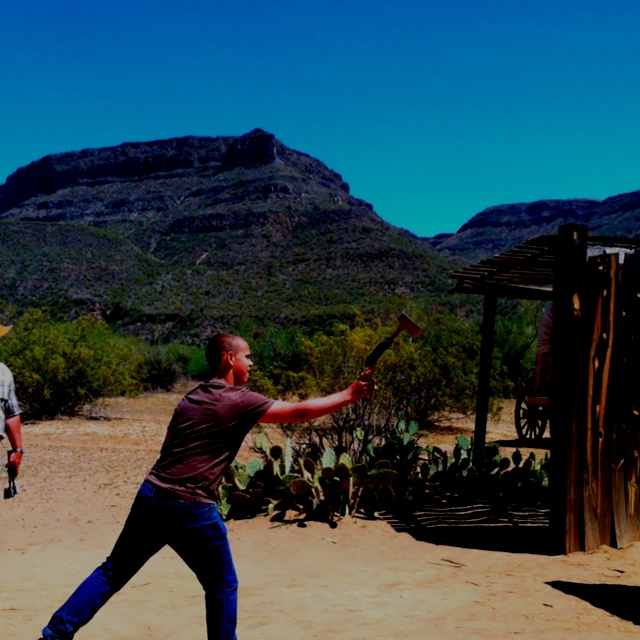 Tomahawk throwing at our great western adventure
