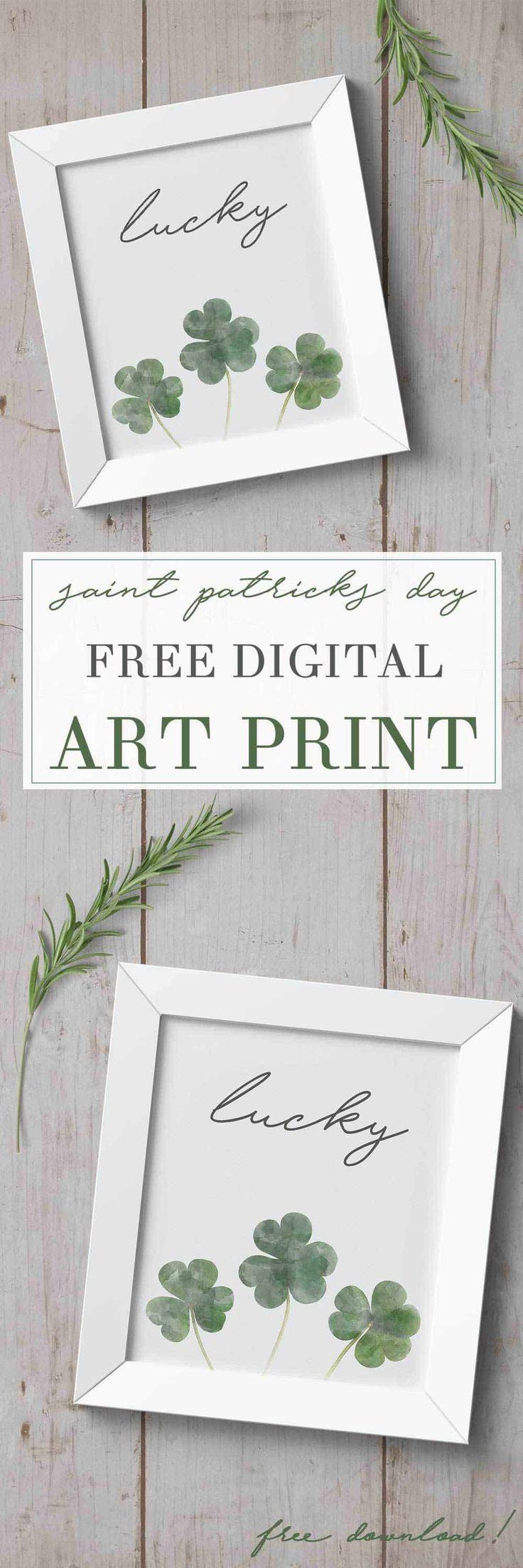 Free Downloadable St Patricks Day Art Print