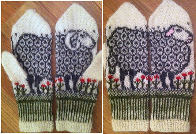 Ravelry: Sheep mittens by Jorid Linvik