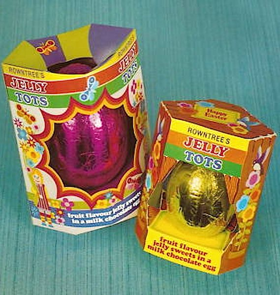 Old school Easter eggs-brings back memories of putting our chocolate eggs in the back window of the car before going for our Easter picnic only to discover they had melted when we got there!