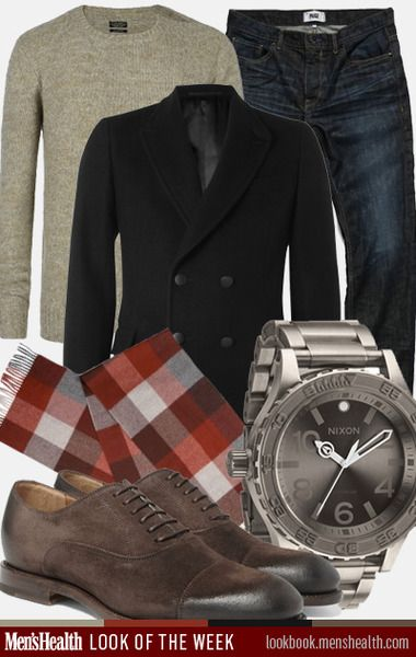 How to rock a bright scarf this fall. Shoes: Gucci Watch: Nixon Sweater: All Saints Pea Coat: Yves Saint Laurent Scarf: Ted Baker Jeans: Paige