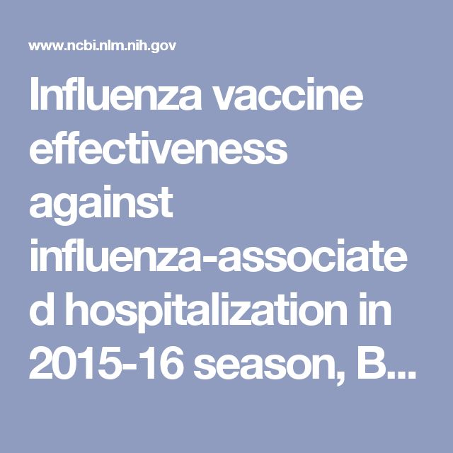 * Influenza vaccine effectiveness against influenza-associated hospitalization in 2015-16 season, Beijing, China. - PubMed - NCBI // CONCLUSIONS: Influenza vaccination did not show effective protection against hospitalization with influenza in 2015/16 season in Beijing.