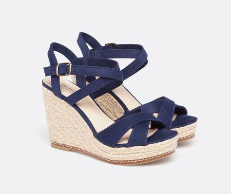 Chaussures compensées suédine - OYSHO