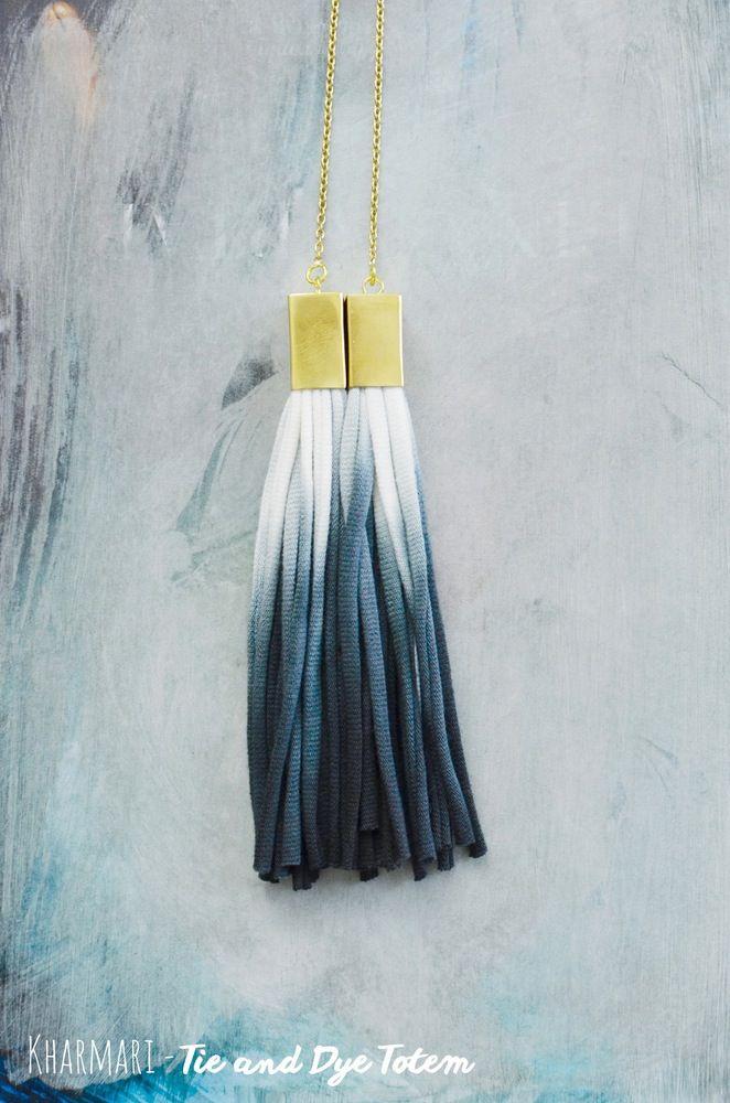 ©Kharmari Necklace Tie & Dye Totem (Brass) http://kharmarishop.bigcartel.com/