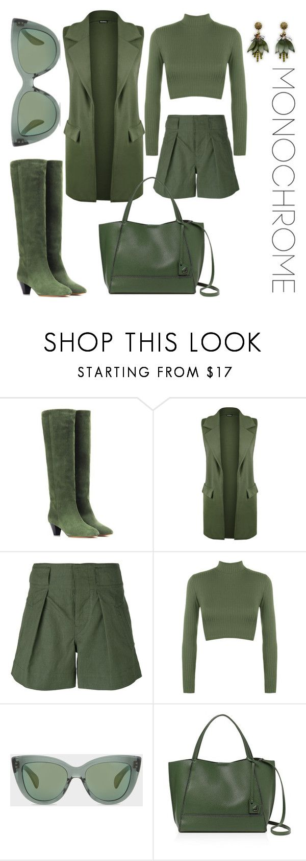 """""""kale Panthone colour 2017"""" by yulia-ustimenkova ❤ liked on Polyvore featuring Isabel Marant, WearAll, Étoile Isabel Marant, Paul Smith, Botkier and Ann Taylor"""