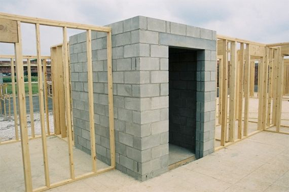 Safe Room Being Installed | Storm Cellar Ideas