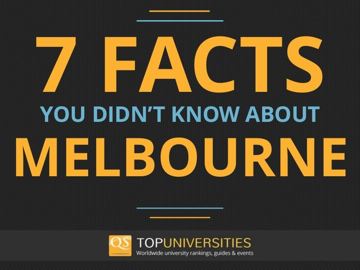 Did you know that until 1966 all Melbourne's pubs closed a 6:30? Or that Melbourne was the capital of Australia between 1901 and 1927? Discover 7 facts you didn't know about the city. #QSBestCities