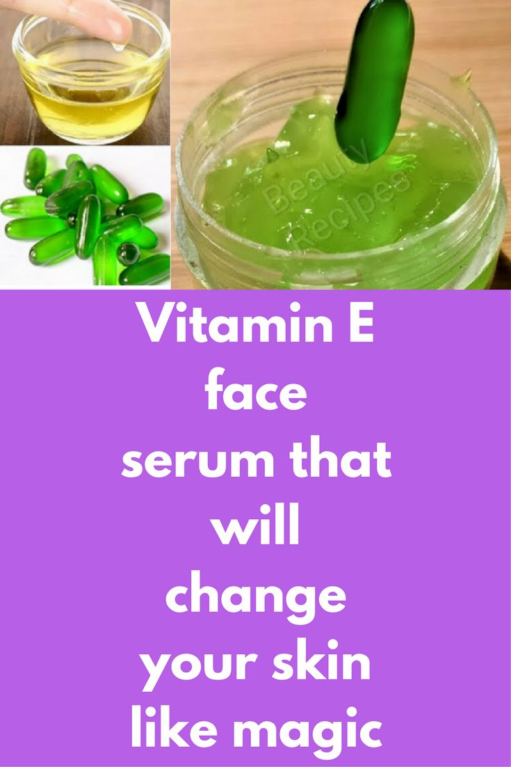 Vitamin E face serum that will change your skin like magic To prepare this serum you will need just 2 things and that is aloe vera gel Vitamin E capsule, Evion 400 What to do: Take a fresh aloe vera leaf, peel the skin and remove gel from it. we need around 3 spoons of this fresh aloe vera gel. If you do …