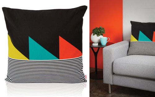 This would look great on our couch. Pillow by Funkle Design (via design milk)