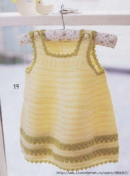 Pinafore Dress free crochet graph pattern                                                                                                                                                      Más