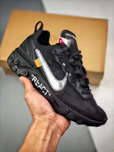 best service b111f 747f2 NIKE REACT ELEMENT 87 X OFF-WHITE AQ0068-001   Yupoo   kicks in 2019    Sneakers nike, Nike shoes, Nike