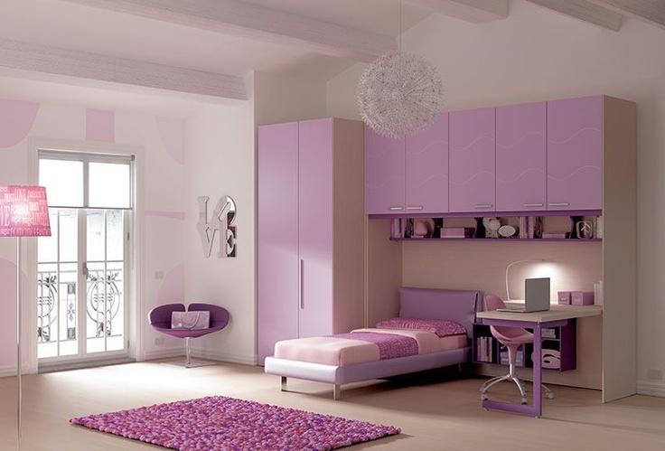 larice #ante laccate lilla #cabina #armadio Square ante lilla #letto ...