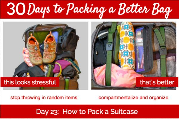Day 23 of our 30 Days project talks about taming the suitcase beast. How to pack a suitcase is really a culmination of all the previous topics in our series. Watch it come to life!