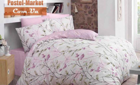 Постельное белье LUOCA PATISCA Ranforce BLOSSOM розовое Двуспальный евро . Купить в интернет магазине Постель Маркет. ( Киев, Украина )