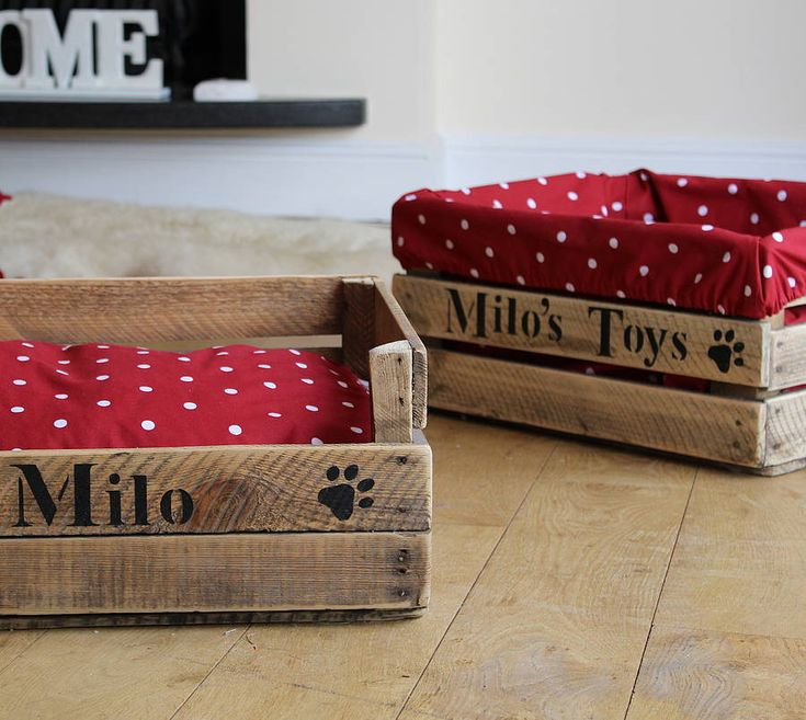 personalised wood crate dog or cat toy box by the comfi cottage | notonthehighstreet.com