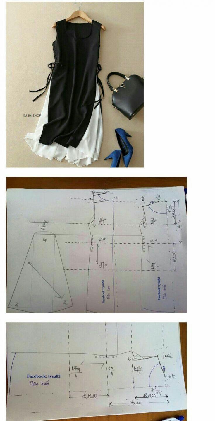 Выкройка платья туники / Простые выкройки / ВТОРАЯ УЛИЦА