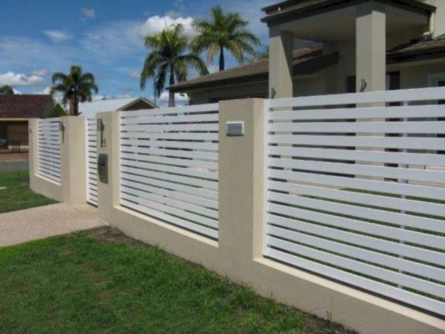 49 gorgeous modern fence design ideas to enhance your beautiful yard rh pinterest com