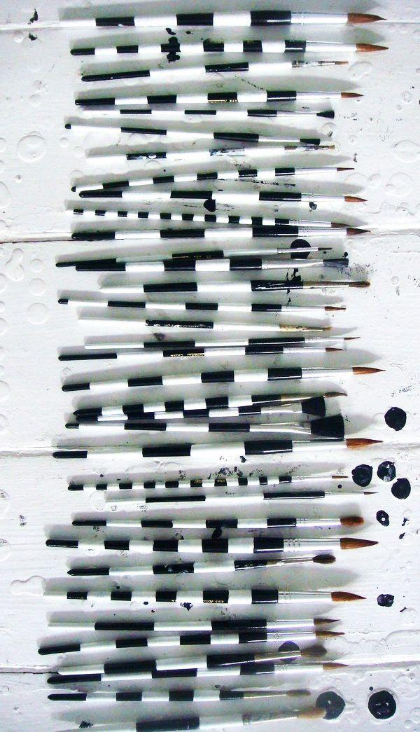 Ready for action: the studio of Danish artist/painter Tenka Gammelgaard. #work_space, #monochrome