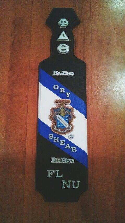 Phi Delta Theta Fraternity Paddle