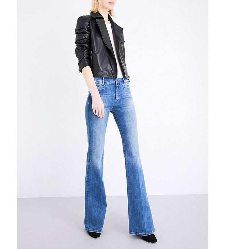M.I.H JEANS Marrakesh Jean High rise kick flare Bee Wash NEW 25 STRETCH DENIM #MihJeans #Flare