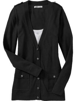 cant get enough black cardigans, $29 old navy
