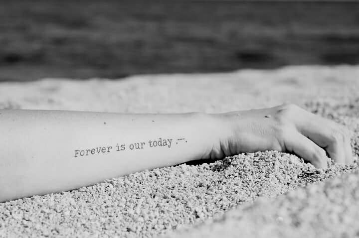 forever is our today . --- .  #tattoo -- photo by Evi Tselempi