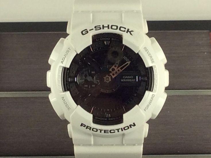 Casio Men S Ga 110gw G Shock White Black Dial Og Digital Quartz Watch