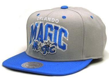 Boné Mitchell & Ness Snapback NBA Orlando Magic Cinza-Azul - Boné Mania