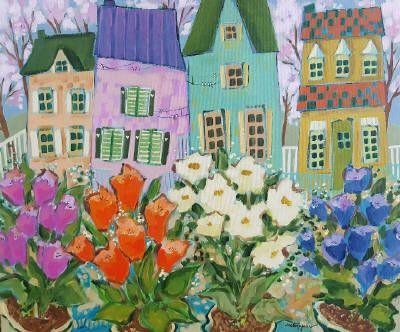 Claudette Castonguay, Tout est en fleurs..., Acrylic on Canvas 20 X 24 in.