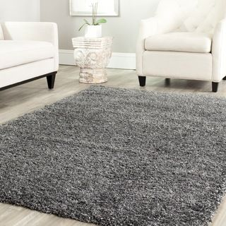 Safavieh Cozy Solid Dark Grey Shag Rug