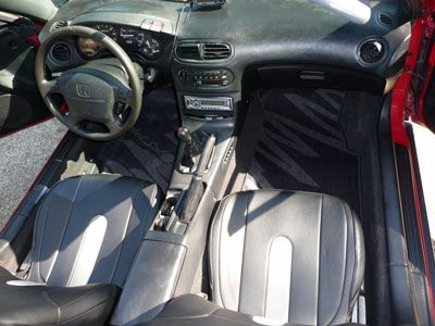 Red Window Tint >> Details about HONDA DEL SOL 1993-1997 LEATHER-LIKE CUSTOM SEAT COVER | The o'jays, Stripes and ...