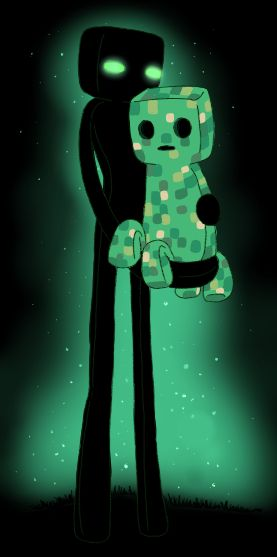 Enderman Yan and Creeper Jack by ChuChucolate.deviantart.com on @deviantART