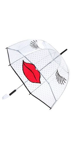 Fun Kissy Face umbrella for dull rainy days
