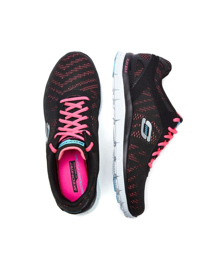 Get your kicks with this colourful pair of wide-width Skechers sneakers.  Feature a