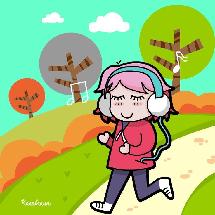 Running is good for health!   #illustration #karabraun #blythe #character #design #kawaii #vector #animation #jakarta #coloring #lineart #visualart #graphicarts