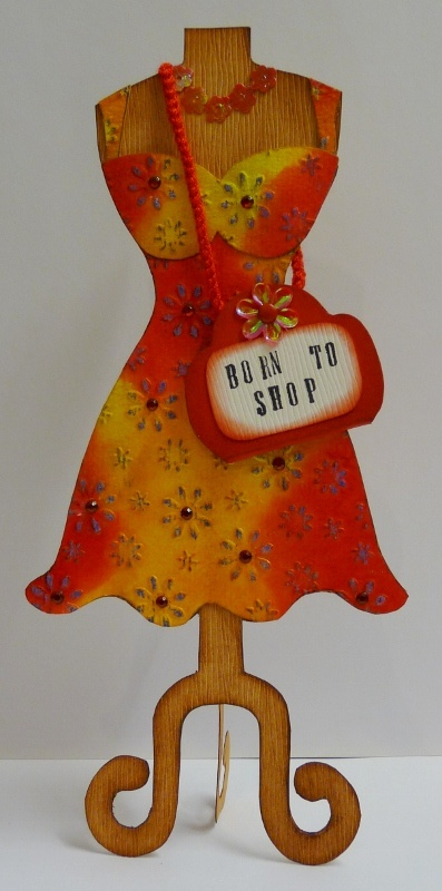 Card Making Paradise Part - 42: Flared Dress Greeting Card · CardmakingGreeting CardsParadiseTemplates