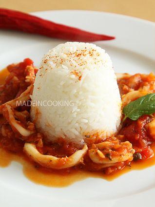 Encornets+à+la+sauce+tomate+provençale